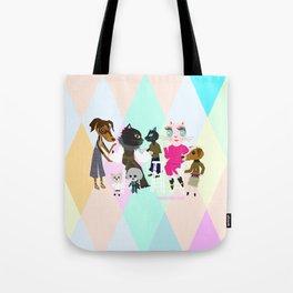 PASTEL COLOR FASHIONISTA CATS Tote Bag