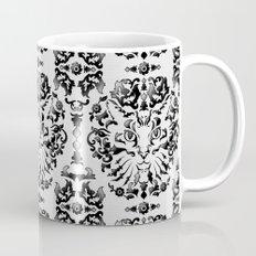 Cat Damask (Black&White) Mug
