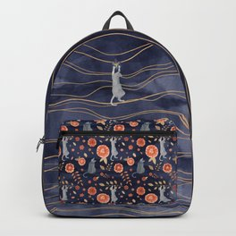 Hanging cats - indigo waters theme Backpack
