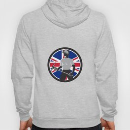 British Coal Miner Union Jack Flag Icon Hoody