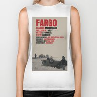movie poster Biker Tanks featuring Fargo Movie Poster  by FunnyFaceArt