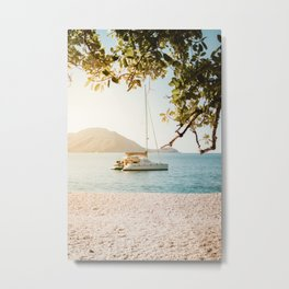 Fitzroy Island Catamaran | Cairns Australia Tropical Beach Sunset Photography Metal Print