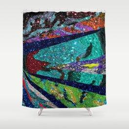 Peacock Mermaid Battlestar Galactica Abstract Shower Curtain