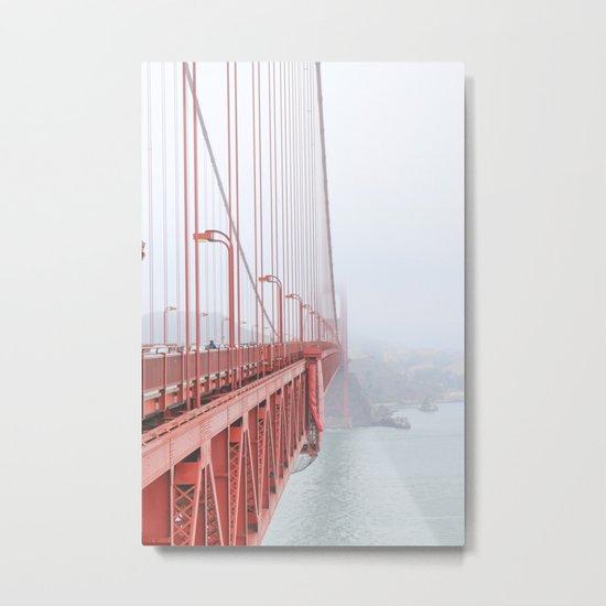 golden gate bridge in san francisco metal print by the diy playbook society6. Black Bedroom Furniture Sets. Home Design Ideas