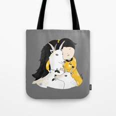 Capricia with Goats Tote Bag