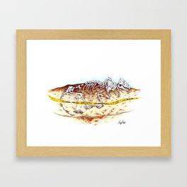 Sleuthing for Fossils Framed Art Print