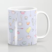 cooking Mugs featuring Cooking Pattern by Little Holly Berry