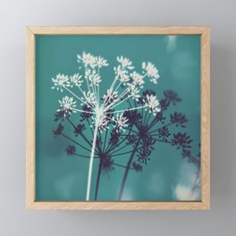 Twilight Stars. Botanical Macro Abstract in Blue. Framed Mini Art Print