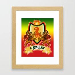 Jah King Rasta Crest Framed Art Print