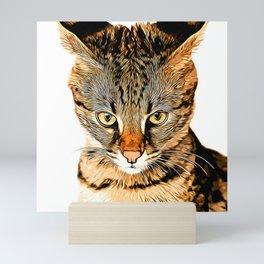 savannah cat portrait vastd Mini Art Print