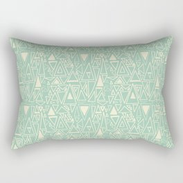 Chotic Angles in Teal by Deirdre J Designs Rectangular Pillow