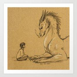 Strength of a Dragon Art Print
