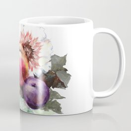 Flowers. Peach. Plum. Bouquet. Fruits. Still-Life Coffee Mug