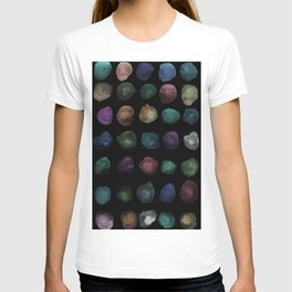 Watercolor, watercolour texture, abstract paint stains beautiful black background T-shirt