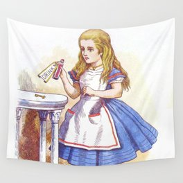 Alice and the Drink Wall Tapestry