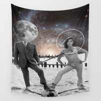 lunar Wall Tapestries featuring Lunar effect by Kiki collagist