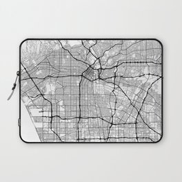 Minimal City Maps - Map Of Los Angeles, California, United States Laptop Sleeve