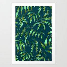Brooklyn Forest - Green Art Print