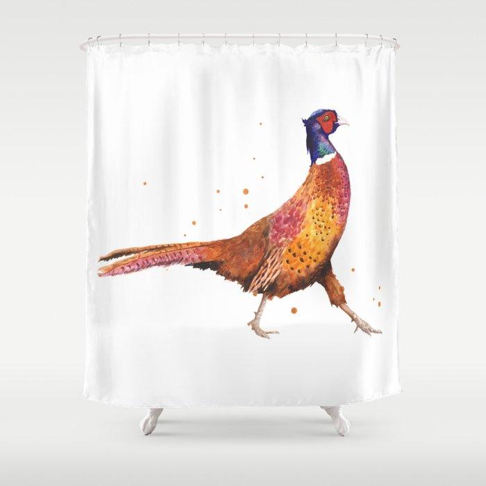 Pheasant Strut Shower Curtain