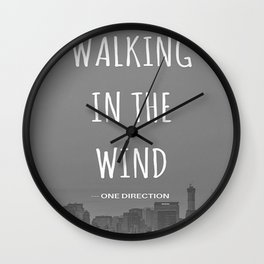 Walking In The Wind Wall Clock