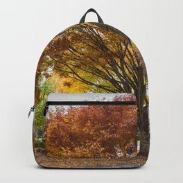 Tree on a Corner in Autumn Backpack
