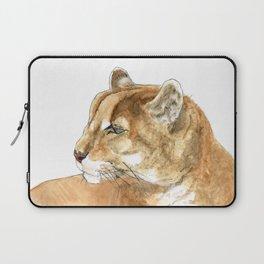 Sunbathing American Mountain Lion Laptop Sleeve