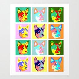 Australian Cattle Dog Pop Art Art Print