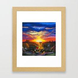 calvin and hobbes Framed Art Print