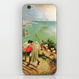 Landscape With The Fall Of Icarus Painting Pieter Bruegel The Elder iPhone Skin