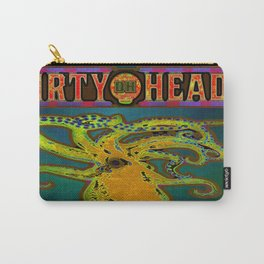 Dirty Heads Psychedelic Octopus #4 Colorful Trippy Vibrant Character Design Carry-All Pouch