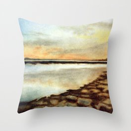 Hayling Beach Throw Pillow