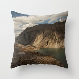Alpine Lake in the Wind River Range of Wyoming Throw Pillow