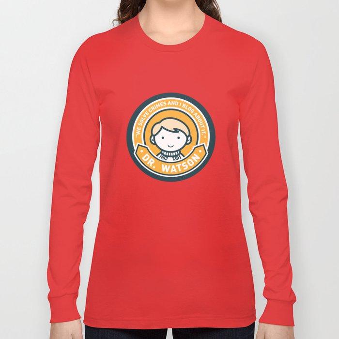 Cute John Watson - Orange Long Sleeve T-shirt