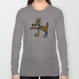 Dog Abstract Long Sleeve T-shirt