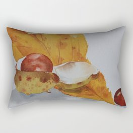 Autumn leaf and conker Rectangular Pillow