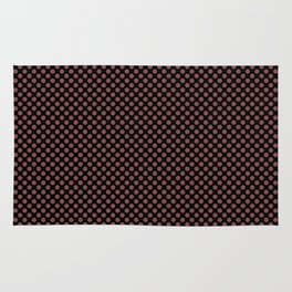 Black and Apple Butter Polka Dots Rug