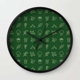 Iconographic Collage IV: Nature Wall Clock