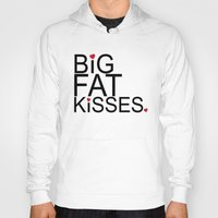psych Hoodies featuring big fat kisses, shawn and julia, psych by studiomarshallarts