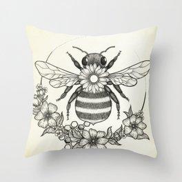 Honey Bee Kind Throw Pillow