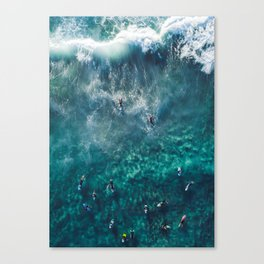 Surfing in the Ocean 2 Canvas Print