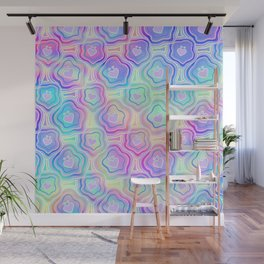 'I Love You Umlaut' Valentine's Pattern - Morning Iridescence Wall Mural