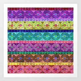 Darjeerling Stripe Art Print