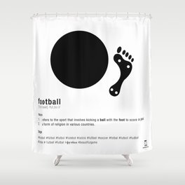 Football is Referred as Shower Curtain