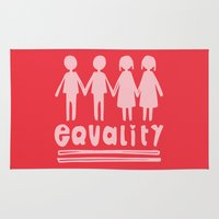 equality Area & Throw Rugs featuring Equality Love II by MaJoBV