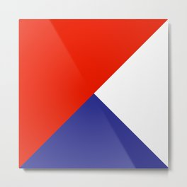 Triangles Retro Pop Art Abstract - Red White Blue Series Metal Print