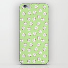 Cotton Blossom Toss in Key Lime iPhone Skin