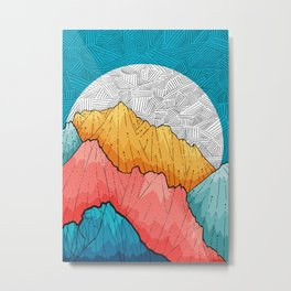The crosshatch peaks Metal Print