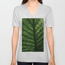 Tropical Leaf Unisex V-Neck