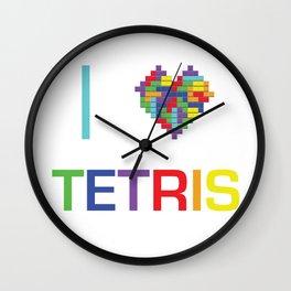I heart Tetris Wall Clock