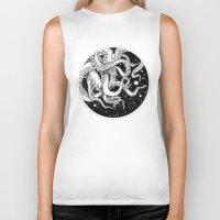 octopus Biker Tanks featuring Octopus by Corinne Elyse